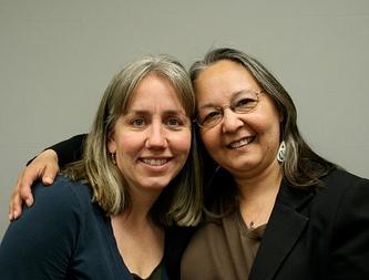 Kristine King, the strongarm, and Sharon Svarny-Livingston, the databaser.