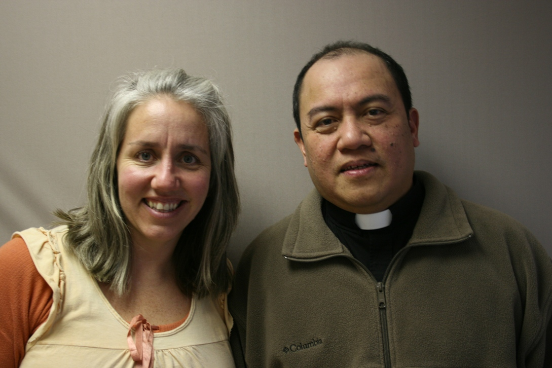 Kristine and Father Nelson Marilag.
