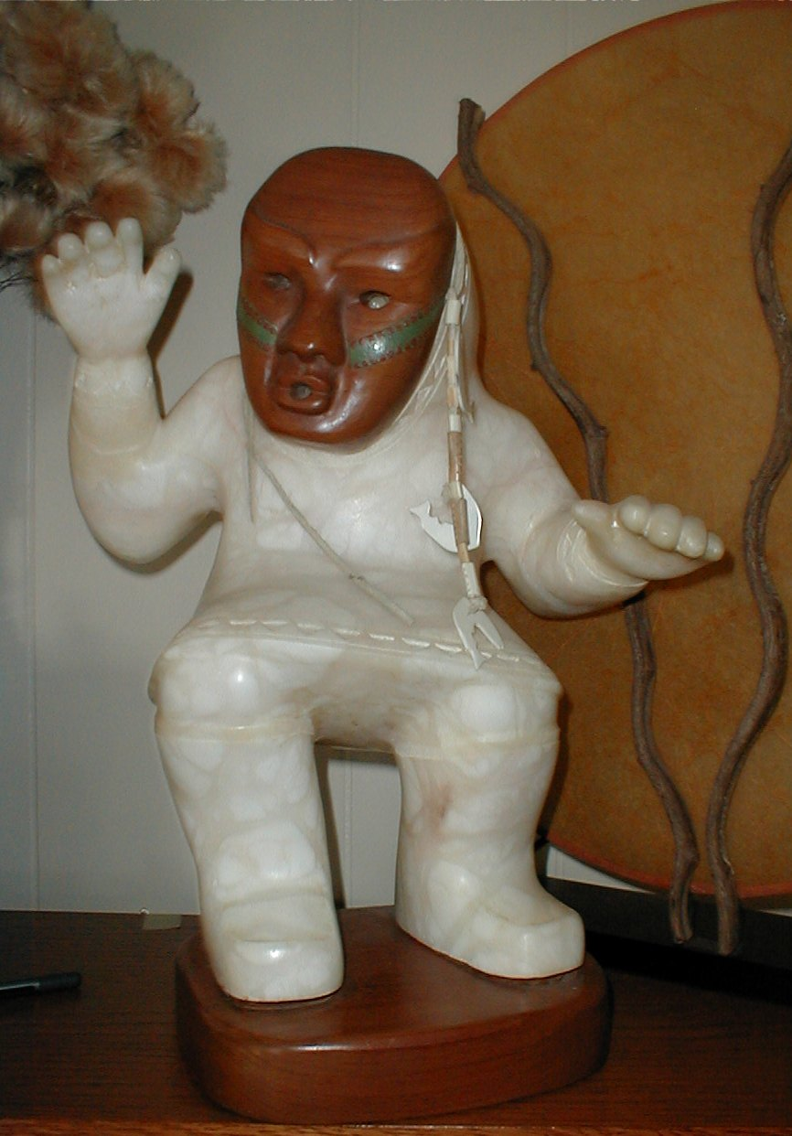 From my mother, Gert Svarny, an alabaster scupture.