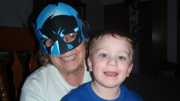 Grandmother and Mom, Carol King with the real Batman.