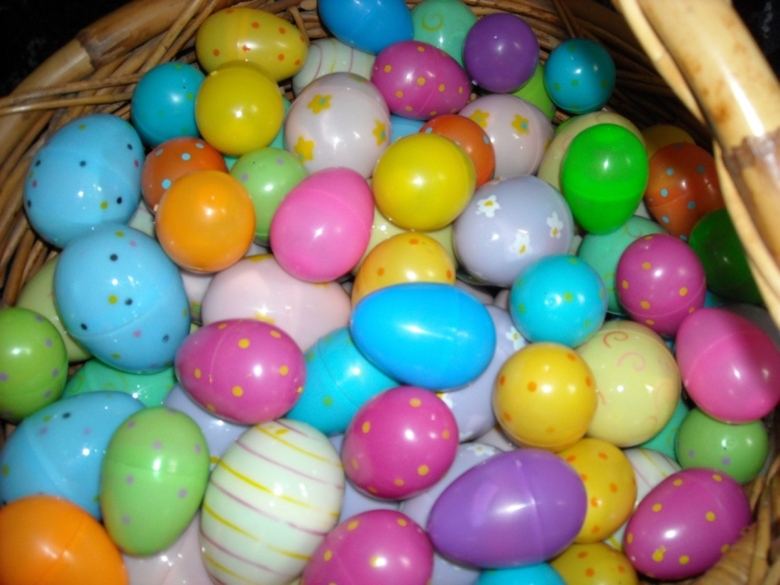 Getting ready for the egg hunt.
