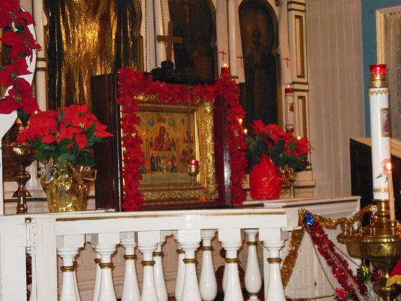 Kristuusax^  Ag^akux^!  Amchuux^txichin!  Christ is born! Glorify Him!
